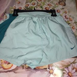 Nike Measured running shorts teal and blue